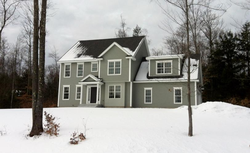 4 bedroom colonial with first floor office, large family room, gas fireplace and more