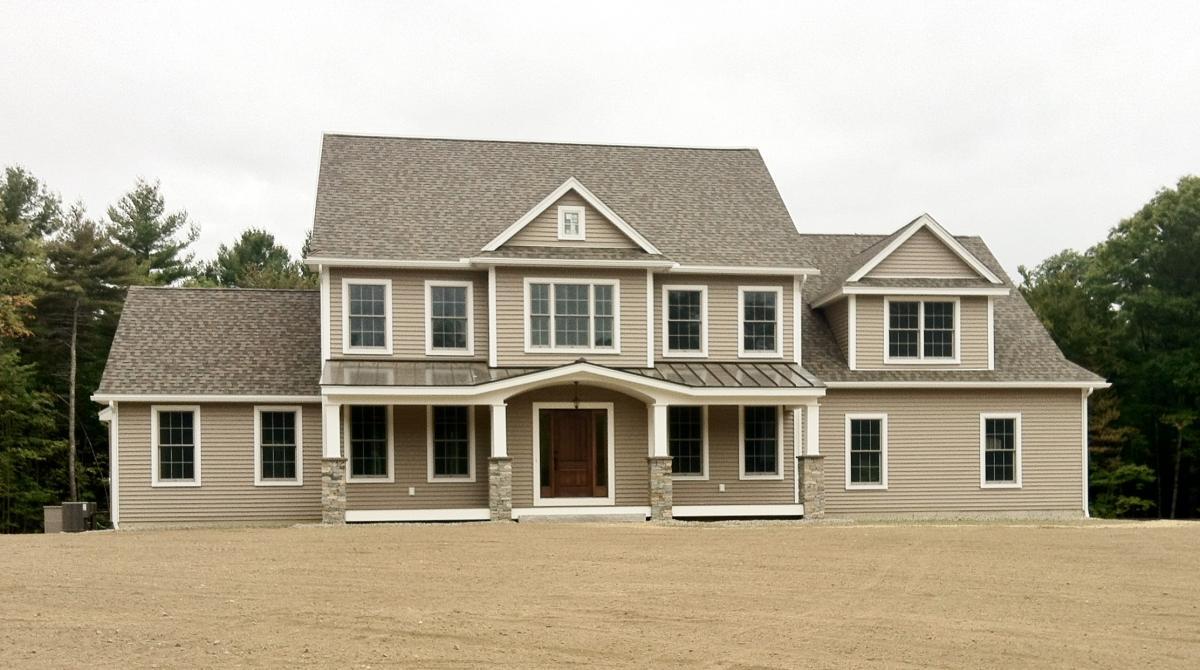 Cherry hill homes inc portfolio 3 000 sf colonial with for 3 car garage homes